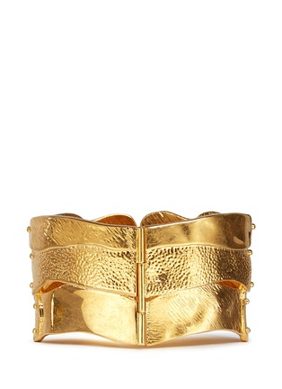 Back View - Click To Enlarge - Alexander McQueen - Puzzle skull cuff