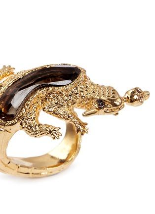 细节 - 点击放大 - ALEXANDER MCQUEEN - Salamander rock crystal ring
