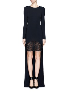 STELLA MCCARTNEYHigh-low lace hem gown