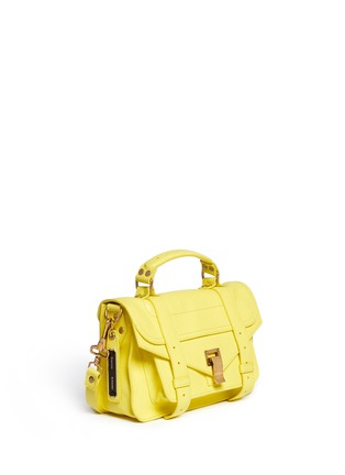 Detail View - Click To Enlarge - Proenza Schouler - 'PS1' tiny leather satchel