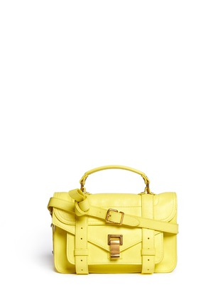 Main View - Click To Enlarge - Proenza Schouler - 'PS1' tiny leather satchel