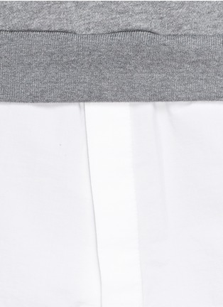 Detail View - Click To Enlarge - 3.1 Phillip Lim - Shirt tail sweatshirt