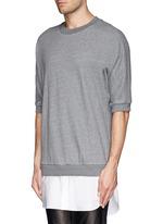 Shirt tail sweatshirt