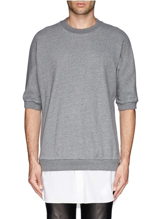 Main View - Click To Enlarge - 3.1 Phillip Lim - Shirt tail sweatshirt
