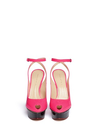 Figure View - Click To Enlarge - Charlotte Olympia - 'Brenda' patent leather platform pumps