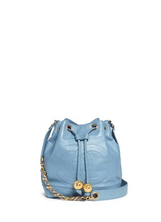 Vintage Chanel - CC charm leather bucket bag