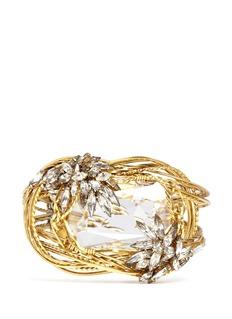 ERICKSON BEAMON'Cosmic Code' swirl wire crystal bracelet