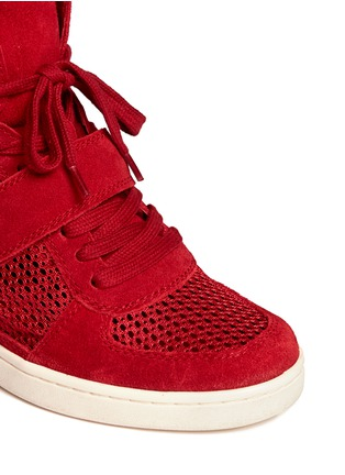 Detail View - Click To Enlarge - Ash - Suede and mesh high top sneakers