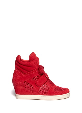 Main View - Click To Enlarge - Ash - Suede and mesh high top sneakers