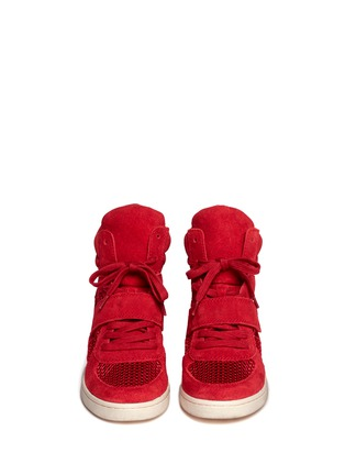 Figure View - Click To Enlarge - Ash - Suede and mesh high top sneakers