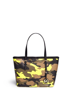 MICHAEL MICHAEL KORS'Jet Set Travel' small camouflage saffiano tote