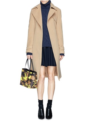 Figure View - Click To Enlarge - Michael Kors - 'Jet Set Travel' small camouflage saffiano tote