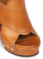 'Mischa Plateau' slingback leather platform sandals