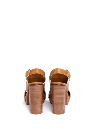 Back View - Click To Enlarge - Chloé - 'Mischa Plateau' slingback leather platform sandals