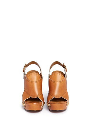 Front View - Click To Enlarge - Chloé - 'Mischa Plateau' slingback leather platform sandals