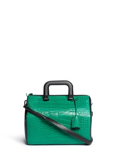 3.1 PHILLIP LIM 'Wednesday' medium alligator leather Boston satchel