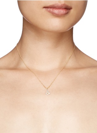 Khai Khai - 'And &' diamond pendant necklace