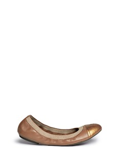 TORY BURCH 'Gabby' elasticated leather ballet flats