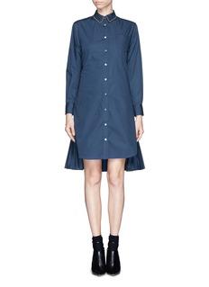 SACAIWool pleat combo shirt dress