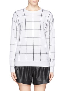THEORY 'Dreamerly W' merino wool windowpane check sweater