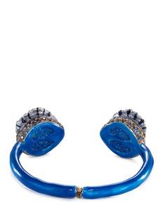 Delfina Delettrez'Eyes' sapphire silver enamelled cuff