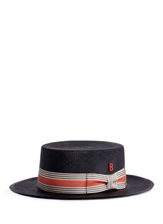 My Bob 'Canotier' straw boater hat