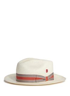 My Bob'Jungla' stripe ribbon band straw Panama hat