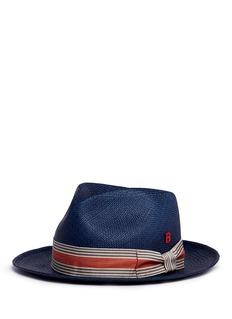 My Bob '24 Hours' stripe ribbon band straw Panama hat