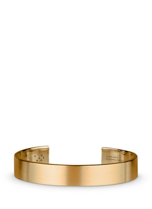 Main View - Click To Enlarge - Le Gramme - 'Le 33 Grammes' brushed 18k yellow gold cuff
