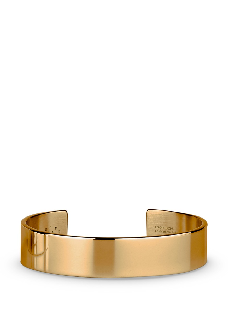 Le 41 Grammes polished 18k yellow gold cuff by Le Gramme