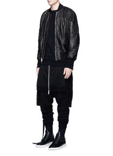Unravel'Seta' leather bomber jacket