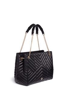 Lanvin'Sugar' medium chevron quilted leather chain shoulder bag