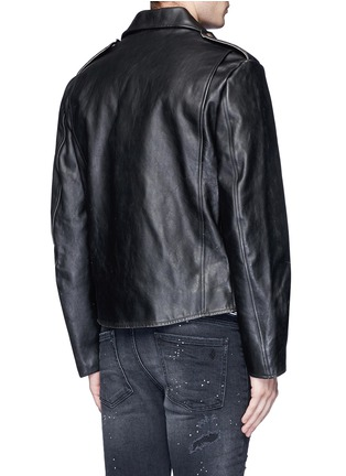 Back View - Click To Enlarge - R13 - U.S. pin contrast zip calf leather moto jacket