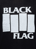'BLACK FLAG' Japanese cotton-cashmere T-shirt