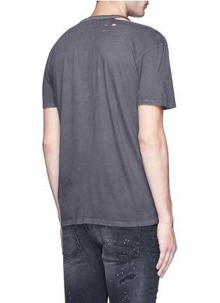 R13-'Punk' distressed cotton-cashmere T-shirt