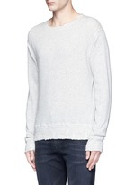 'Vintage' distressed French terry sweatshirt