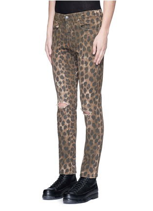 Front View - Click To Enlarge - R13 - Leopard print jeans