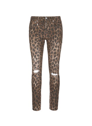 Main View - Click To Enlarge - R13 - Leopard print jeans