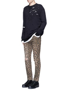 R13Leopard print jeans