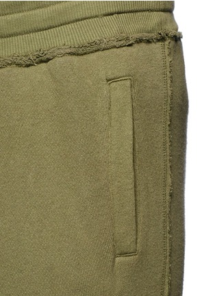 Detail View - Click To Enlarge - R13 - Raw cut drawstring French terry sweatpants
