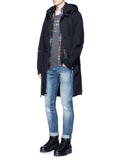 R13 'Boy' washed slim fit denim pants