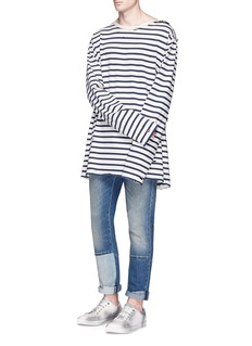 Faith Connexion Oversized stripe long sleeve T-shirt