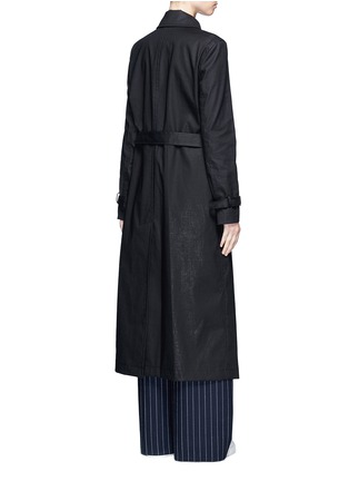 Back View - Click To Enlarge - Dkny - Belted cotton midi trench coat