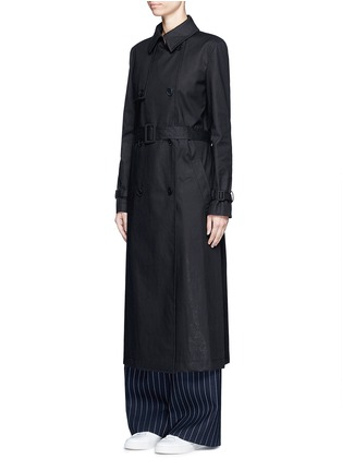 Front View - Click To Enlarge - Dkny - Belted cotton midi trench coat