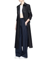 Belted cotton midi trench coat