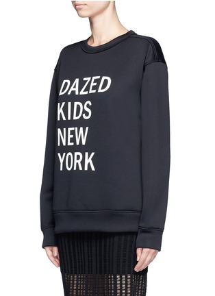 Front View - Click To Enlarge - Dkny - 'Dazed Kids New York' print scuba jersey sweatshirt