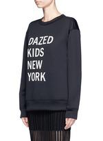 'Dazed Kids New York' print scuba jersey sweatshirt
