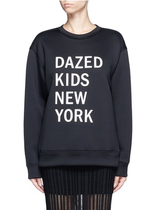Main View - Click To Enlarge - Dkny - 'Dazed Kids New York' print scuba jersey sweatshirt