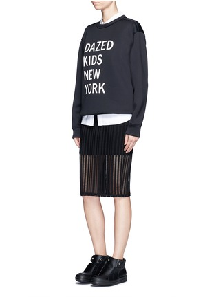 Figure View - Click To Enlarge - Dkny - 'Dazed Kids New York' print scuba jersey sweatshirt