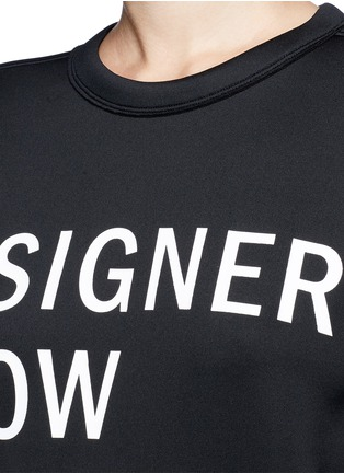 Detail View - Click To Enlarge - Dkny - 'Designers Know Nothing Yet' print scuba jersey sweatshirt